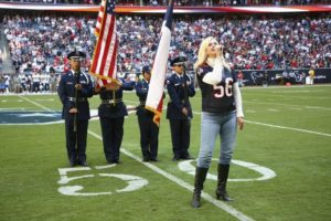 Shannon Perry Singing at Texans Game